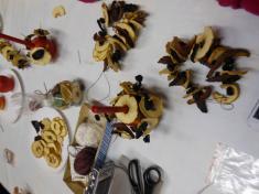 Podzimní tvoření zesušeného ovoce - 16.10.2015