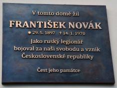 Odhalení pamětní desky panu Františku Novákovi