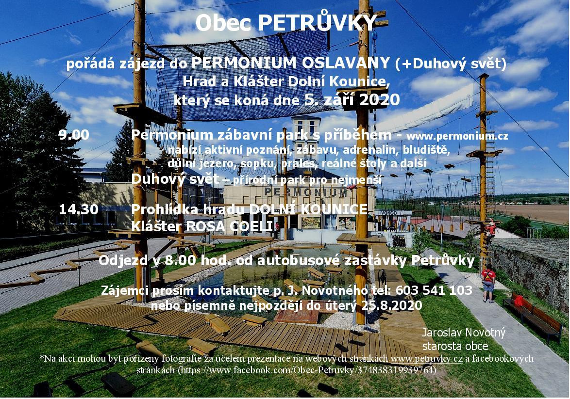 Zájezd do Permonium Oslavany, hrad a klášter Dolní Kounice