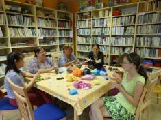 Výroba míčků z česané vlny 21.6.2013